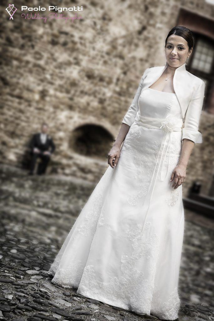 Sposa Bride Cortile Castello