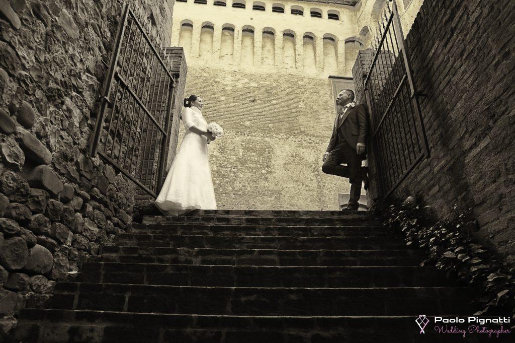 Wedding Sposi Scalinata Castello